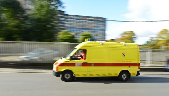 Les blessés sont parfois acheminés vers des hôpitaux qui ne sont pas idéalement équipés. © JL Flémal BELPRESS