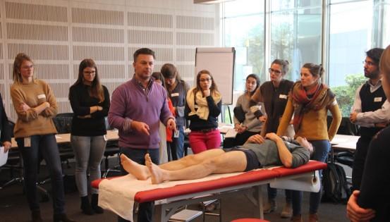 © ssmg Atelier organisé pour les jeunes généralistes, en 2017, sur les urgences et l'examen locomoteur.