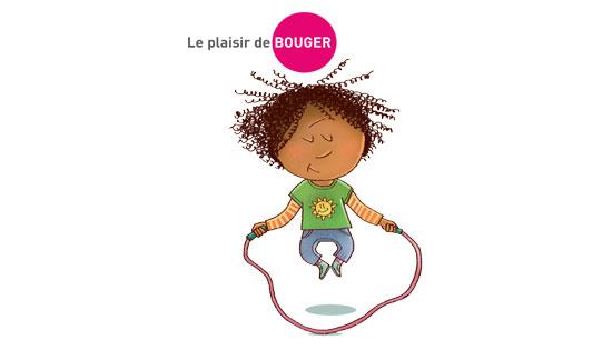 © ONE  L'enfant sautant à la corde rappelle qu'une bonne hygiène de vie passe aussi par l'activité physique. C'est un