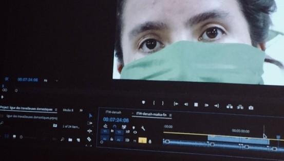 Elles apprennent différentes techniques pour filmer de manière anonyme.©Soraya Soussi