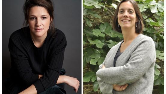 Ariane Estenne, Présidente du MOC et Elisabeth Degryse, Vice-Présidente de la MC