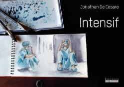 page de couverture du livre Intensif : deux soignants assis par terre.